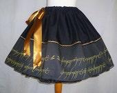 Elvish Script Skirt By Rooby Lane