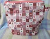 Medium knitting or crochet project bag