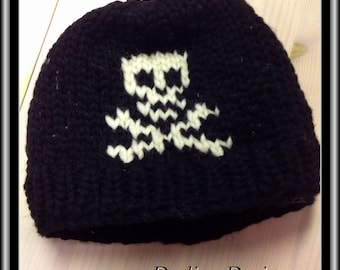 Skull Vintage Canadian Style Wool Toque