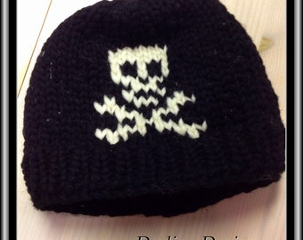 Skull Cowichan Style Wool Toque