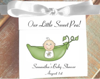 Pea in a Pod Sweet Pea Baby Shower Tea Bag Favors