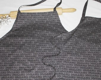 Father Son Black Dinosaur Words Aprons