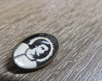Tiny Antique Pin of Jesus and the Light