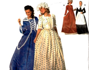 Simplicity 9713 Misses Historical 18th & 19th Century Costumes Szs 4,6,8 Uncut Pattern