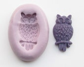 Owl Mold # 684 - silicone mold for crafts, jewelry, resin, porcelain, clay, candies, baking, plastic, metal and more uses.