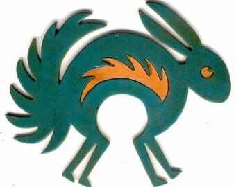 """CopperCutts Mimbres Rabbit 5.5"""" x 6.75"""" Wall Plaque"""
