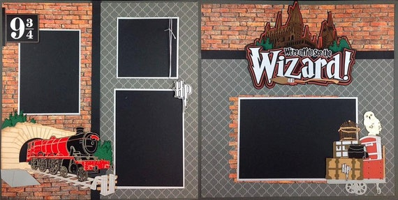Scrapbook 2 Page Layout Harry Potter Themed Paper Wizard Scrapbook