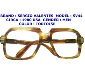sergio valentes eye glasses /  vintage eye glasses / vintage over size eyeglasses / hip hop eyeglasses / 1960 vintage eyewear /