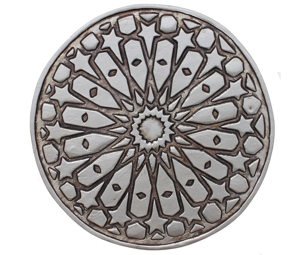 Outdoor wall art with moroccan design circular morrocan zoom dailygadgetfo Image collections