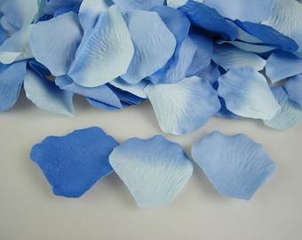 Rose Petals / Cornflower and Blue Blend /  500 /  Artifical / Aisle Decor Wedding / Flower Girl Basket Petals / Petal Toss