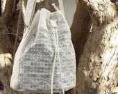 OOAK Shoulder Bag, Boho Bucket Bag, Street Fashion Purse, Crossbody Bag, Unique Gift for Her