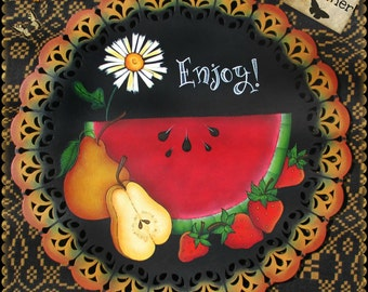 E PATTERN - Sweet Summer - Enjoy summer fruit with this colorful display! Painted and Designed by Sharon Bond - FAAP