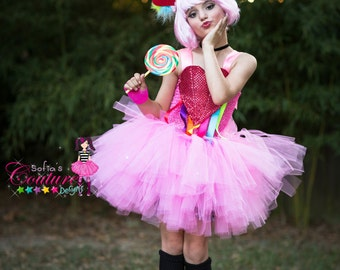 Katy Perry inspired costume in pink with multi color
