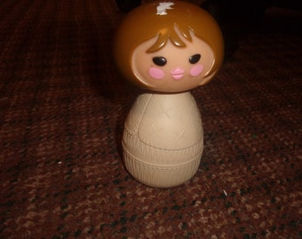 vintage avon perfume bottle small world girl cream lotion full