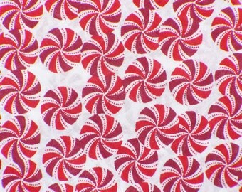 Christmas Candy Fabric  /  Peppermint Candies Fabric  / Swirled Candy Fabric / By the Yard