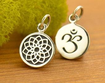 Silver Crown Chakra Charm - Chakra Jewelry
