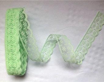 "Mint Green Lace-20mm-7/8"""