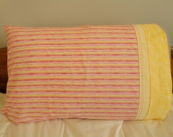 Stripes in the Pink - Standard Pillowcase Single