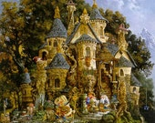 College of Magical Knowledge : Heaven and Earth Designs James C. Christensen counted cross stitch patterns embroidery fairy fantasy magical