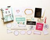 4x6 True Love Valentine's Day Anniversary Minibook Mini Album Scrapbook Kit Mini Journal Love Notes Blue Marbled Crate Paper Hello Love Gift