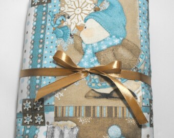 Fitted Sheet Baby Crib or Toddler Bed Snowman Sheet