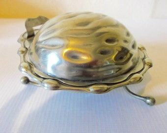 Vintage Condiment Dish Art Nouveau English Silver Plated Oyster Serving Dish