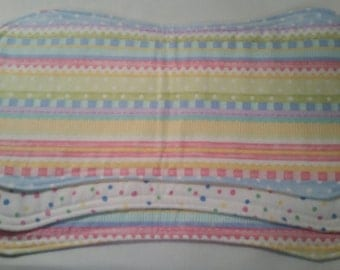 Baby Burp Cloths - Set of 2 Flannel Burp Cloths
