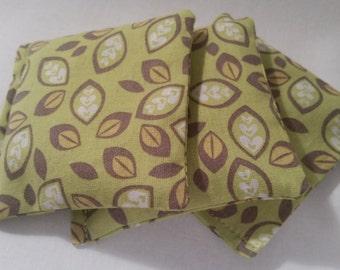 Green Leaf Lavender Sachets - Set of 3