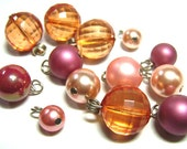 Vintage Lot of Mixed Plastic Pearl & Lucite Charm Beads 60s-70s - Destash lot