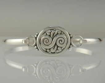 Sterling Silver Bangle- One of a kind
