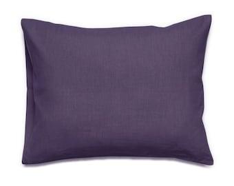 Violet linen pillowcase, Violet pillowcases, King pillowcases, Euro shams, Standard size pillow case, Linen bedding, Violet bedding