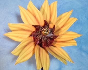 Matthew Mezza Sunflower Pinwheel Spinner Whirligig Windmill