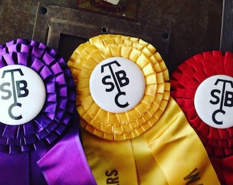 Vintage Collection Of Award Rosette Ribbons 1960's Horse Awards