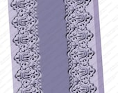 """Cuttlebug 5 x 7 Embossing Folder """"SCALLOPED EDGE"""" New in Package lace border Cricut Provo Craft"""