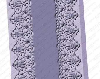 "Cuttlebug 5 x 7 Embossing Folder ""SCALLOPED EDGE"" New in Package lace border Cricut Provo Craft"