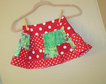Sale****Minnie - Mickey Christmas  skirt  2t / 3t twirl - ready to ship -Holiday skirt