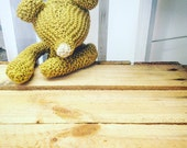 Simple knitted bear pattern