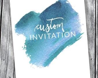 Custom Invitation – Digital File