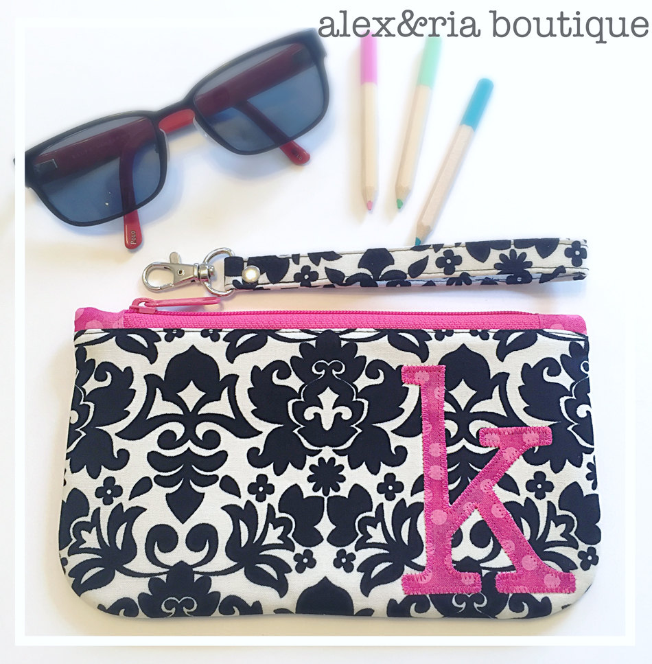 Personalized Clutch Bag With Wrist Strap Bridesmaid Wrislet