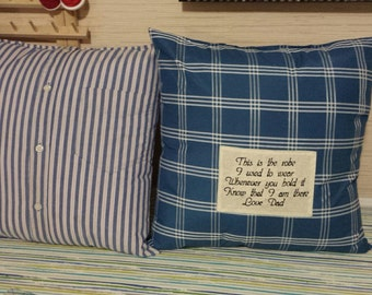 Custom Made Remembrance Pillows