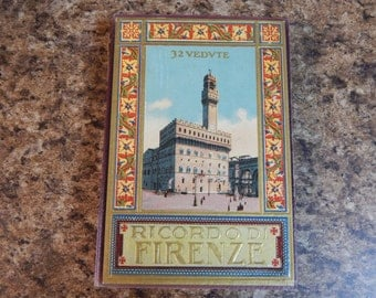 Set of Three Rare Vintage 1930s Italian Picture Guidebooks