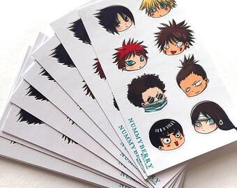 Mini Chibi Naruto Art Sticker Sheet