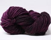 Single Ply Yarn Merino Slub Hand Dyed 44sp15025 Black Rose