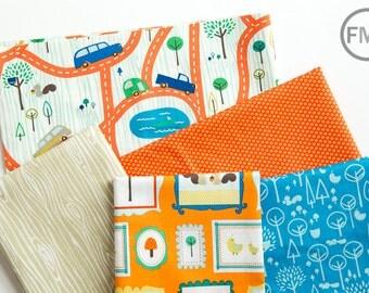 Scenic Route Lake Palette Half Yard Bundle , 5 Pieces, Deena Rutter, Riley Blake Designs, 100% Cotton Fabric, C3660