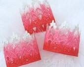 Ready to Ship    Valentine Ombre lace crowns    photography prop    Red Pink White    cake smash  (all ages)