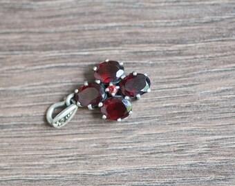 Vintage Garnet Pendant Vintage Jewelry Gift For Mother Garnet Jewelry Garnet Pendant Birthday Gift For Wife Gift For Mom Mother Day Gift