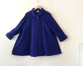Vintage Cobalt Swing Coat One Size