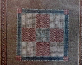 20%OFF Diane C Evans DOUBLE Nine Patch By Something Different Counted Cross Stitch Needlework Kit