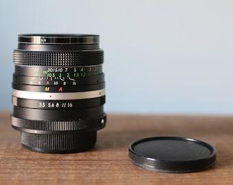 Vintage Carenar Wide-Angle 28mm F3.5 Lens with Vivitar 52mm UV Haze Filter