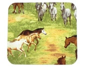 Mouse Pad - Fabric mousepad - Wild West Horses - Home office / computer